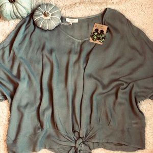 Grey blouse plus size